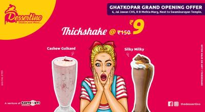 Dessertino Shakes @Rs 9 Only