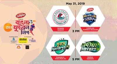 ZBFL 2019 : Mohun Bagan vs Howrah Ekadosh and Duronto Dinajpur (N) vs Nadia Nayaks