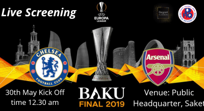 Live Screening of Europa League Final Chelsea FC vs Arsenal FC