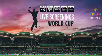 World Cup Screenings at Hoppipola, Madhapur