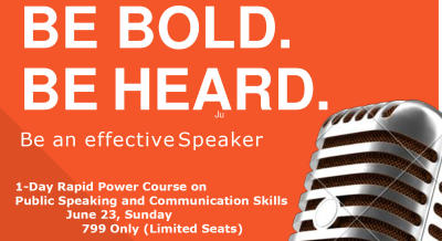 One Day Rapid Course on Public Speaking and Communication Skills