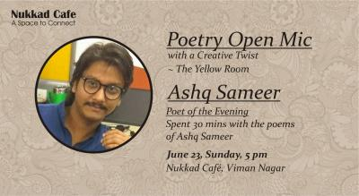 The Yellow Room Poetry Open Mic & Ashq Sameer