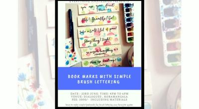 Bookmarks with Brush Lettering