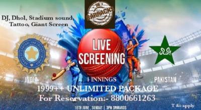 Live Screening India Vs Pakistan | 38 Barracks