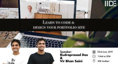 Learn to Code & Design your Portfolio Site