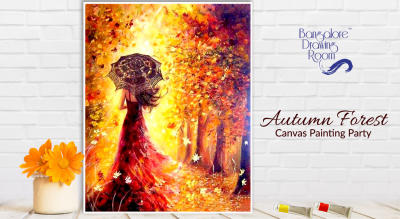 Autumn Forest Canvas Painting Party by Bangalore Drawing Room