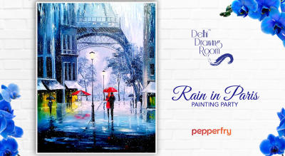 Rain in Paris Painting Party by Delhi Drawing Room