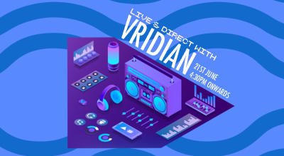 Kamp1 School of Music presents LIVE & DIRECT with VRIDIAN