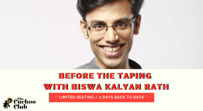 Before the taping with Biswa Kalyan Rath