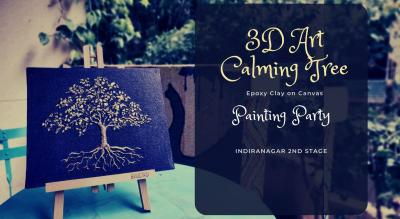3D Art on Canvas - Calming Tree Painting Party