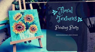 Sunflowers with Palette Knife on Canvas Painting Party