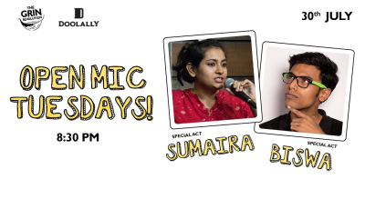 Grin Revolution: Open Mic Tuesdays w/ Biswa & Sumaira