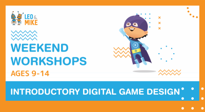 4 Hour Workshops: Introductory Digital Game Design | Age Group  9-14 Years