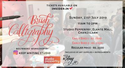 Brush Calligraphy Workshop- Elante Mall, Chandigarh