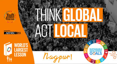 Worlds Largest Lesson - AIESEC in Nagpur (World Record Attempt)