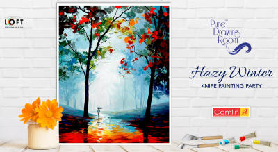 Hazy Winter Knife Painting Party by Pune Drawing Room