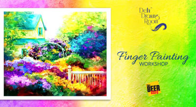 Finger Painting Workshop by Delhi Drawing Room
