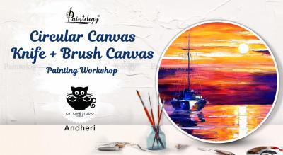 Circular Canvas Painting Party-'Sunset Sail'
