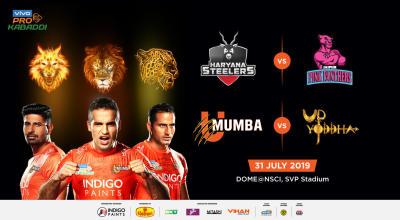 VIVO Pro Kabaddi 2019 - Haryana Steelers vs Jaipur Pink Panthers and U Mumba vs U.P. Yoddha