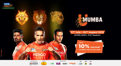 VIVO Pro Kabaddi 2019: U Mumba Match Day Pass