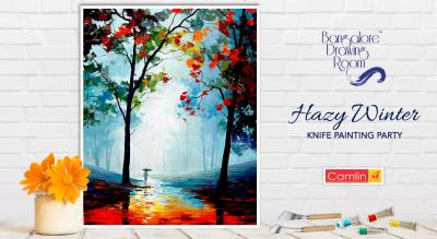 Hazy Winter Knife Painting Party by Bangalore Drawing Room