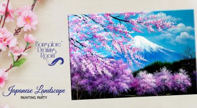 Japanese Landscape Painting Party by Bangalore Drawing Room