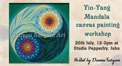 Yin-Yang Chinese dot mandala painting workshop