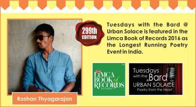Tuesdays with the Bard @ Urban Solace features Roshan Thyagarajan