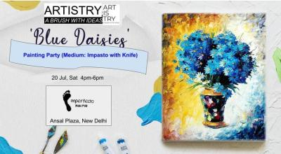 """Blue Daisies"" Painting Party"