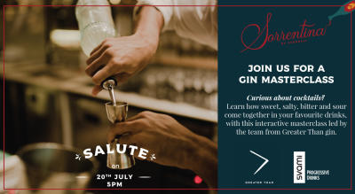 Cocktail Masterclass with Greater Than Gin @Sorrentina, Linking Road
