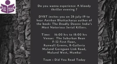 DYRT Monthly Book Meet : A Literary evening