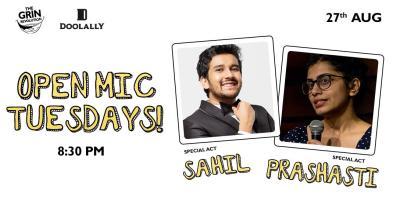 Grin Revolution: Open Mic Tuesdays w/ Sahil and Prashasti