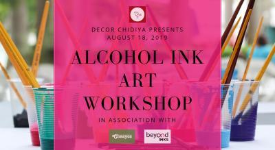Alcohol Ink Art Workshop by Decor Chidiya
