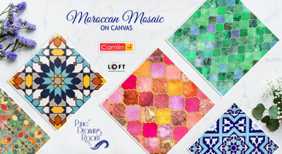 Moroccan Mosaic on Canvas by Pune Drawing Room