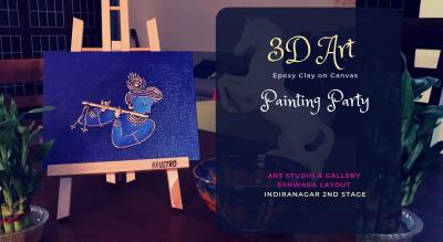 3D Art on Canvas - Janmashtmi Special
