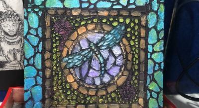 Mosaic Work on Canvas