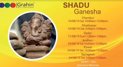 Shadu Mati Clay Ganesha Idol Workshop  | Powai