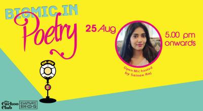 BIGMIC.in Poetry Open Mic hosted by Sainee Raj