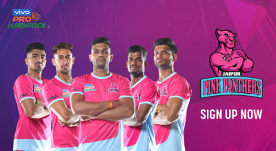Sign up for updates to VIVO Pro Kabaddi 2019: Jaipur Pink Panthers Home Matches