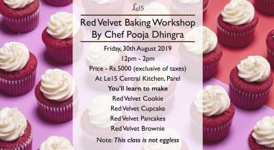 Red Velvet Baking Workshop with Chef Pooja Dhingra
