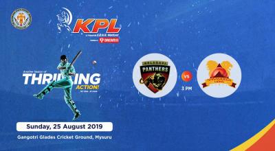 KPL 2019   Belagavi Panthers vs Shivamogga Lions