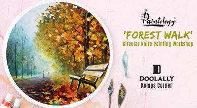 'Forest Walk' Circular Knife Painting workshop