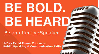 One Day Rapid Power Course on Public Speaking and Communication Skills