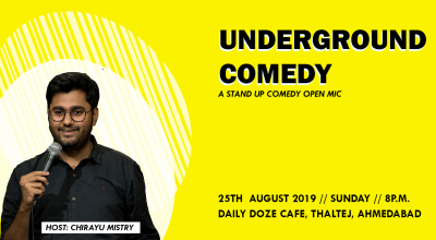 Underground Comedy hosted by Chirayu Mistry