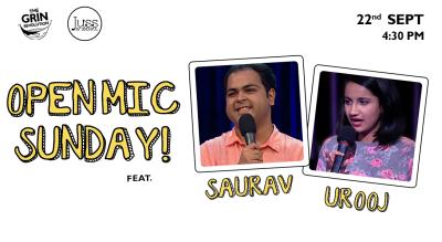 Grin Revolution: Open Mic Sundays w/ Urooj & Saurav