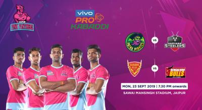 VIVO Pro Kabaddi 2019 - Patna Pirates vs Haryana Steelers and Dabang Delhi K.C. vs Bengaluru Bulls