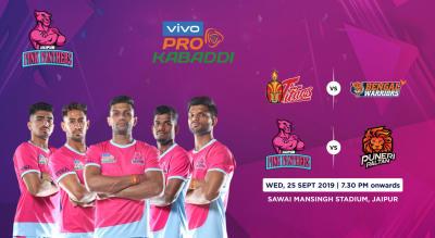 VIVO Pro Kabaddi 2019 - Telugu Titans vs Bengal Warriors and Jaipur Pink Panthers vs Puneri Paltan