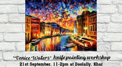 Venice Waters knife painting workshop