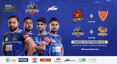 VIVO Pro Kabaddi 2019 - Puneri Paltan v Dabang Delhi K.C. and Haryana Steelers v Gujarat Fortunegiants
