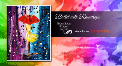 Ballet with Raindrops Painting Party by Hyderabad Drawing Room
